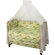 Спальный комплект в кроватку Руно Веселка Сладкий сон салатовый