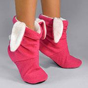 Детские домашние тапочки Slivki Зайчики розово-белые