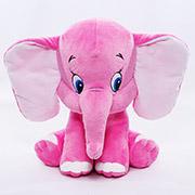 Мягкая игрушка розовый слоник Копица