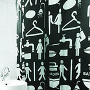 Шторка для ванной Arya Woman Man черная