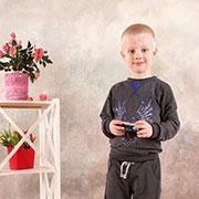 Реглан для мальчика Модный карапуз 03-00569 Темно-серый