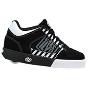 Роликовые кроссовки Caution Heelys черно-белые