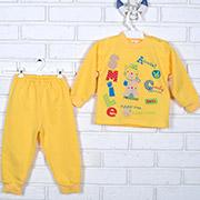 Пижама детская Татошка 01271 желтая с аппликацией