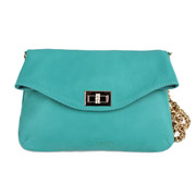 Кожаная сумочка-клатч Poolparty Leather clutch с цепочкой