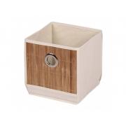 Коробка для хранения вещей МД 20х20х20 см бежевая