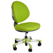 Кресло с белым металлическим основанием Y-120 KZ обивка зеленая однотонная Mealux