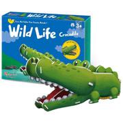 Трехмерная головоломка-конструктор CubicFun Дикие животные - Крокодил