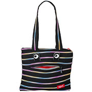 Сумка Zipit Monsters Tote Beach Black & Rainbow Teeth ZBZM-1 черный