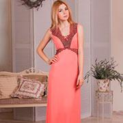 Ночная сорочка Violet delux НС-М-60 персиковая