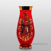 Ваза Edera red 350 mm Bohemia Sklo Королевский смальт 17-350-044