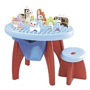 Развивающий конструктор стол + стул + блоки Ecoiffier