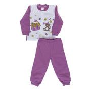 Пижама для девочки Niso Baby Торт фиолетовая