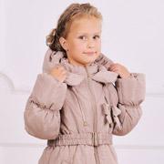 Зимнее пальто для девочки Модный карапуз 03-00461