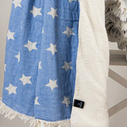 Плед микроплюш Barine Star throw blue
