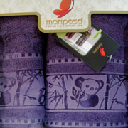 Полотенце бамбук Mariposa Panda фиолетовое