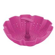 Пароварка-дуршлаг силиконовая Peterhof PH-12837-PK розовая