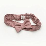 Повязка на голову для девочек с бантиком Модный карапуз 03-00502 бордо меланж