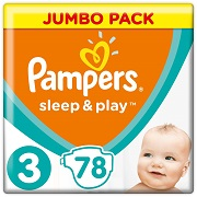 Подгузники Pampers Sleep & Play Размер 3 Midi 6-10 кг, 78 шт 8001090669094
