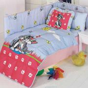 Спальный комплект для детской кроватки Kristal Pati голубой