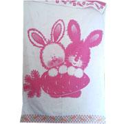 Детская махровая простынь Зайка Речицкий Текстиль розовая