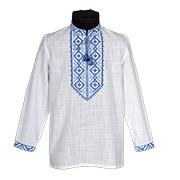 Вышиванка для мальчика Ровенщина Гармония сине-голубая