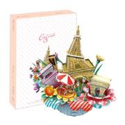 Трехмерная головоломка-конструктор CubicFun Городской пейзаж - Париж