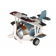 Самолет металический инерционный Same Toy Aircraft cиний со светом и музыкой SY8015Ut-4