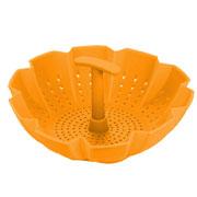 Пароварка-дуршлаг силиконовая Peterhof PH-12837-OR оранжевая