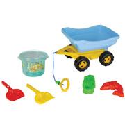 Песочный набор 5 предметов в коляске Pilsan 06-100