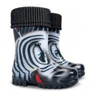 Резиновые сапожки Demar Twister Lux Print Зебра