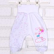Ползунки Татошка 03507 розовые звезды