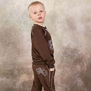 Брюки для мальчика спортивные Модный карапуз 03-00571 Коричневые