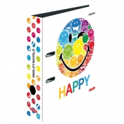Папка-регистратор Herlitz А4 8см Smiley World Rainbow 50002009