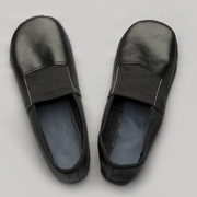 Чешки кожаные Модный Карапуз черные 06-00008
