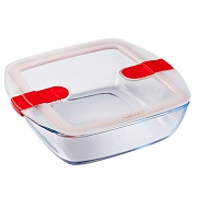 Форма с крышкой Pyrex Cook&Heat квадратная 25х22х7см 2.2л 212PH00 стекло