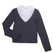 Блуза для девочки Юность Д1-126-л серая