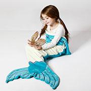 Плед из велсофта bq-style хвост Русалки белый с голубым