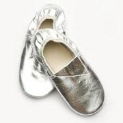 Чешки кожаные Модный Карапуз серебро 06-00009