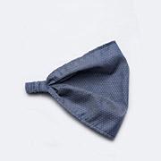 Повязка-косынка для девочек Модный карапуз 03-00499 хлопок деним в горошек