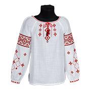 Вышиванка для девочки Ровенщина Гармония красно-черная