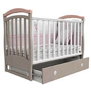 Детская кроватка Верес Соня ЛД6 капучино розовый маятник+ящик