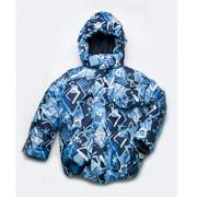 Куртка зимняя для мальчика Модный карапуз 03-00543 темно-синяя