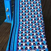 Пляжное полотенце Marie Claire Petrolina голубое