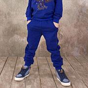 Детские спортивные брюки для мальчика Модный карапуз 03-00571 Синие
