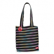 Сумка Zipit Premium Tote Beach Black & Rainbow Teeth ZBN-8 черный