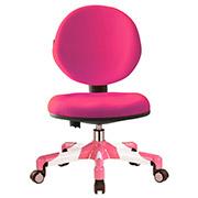 Кресло с белым металлическим основанием Y-120 KP обивка розовая однотонная Mealux