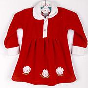 Платье детское Niso Baby VEL1430 красное