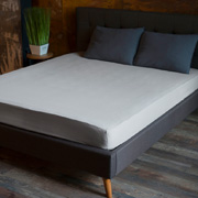 Простынь на резинке SoundSleep Stonewash Adriatic silver серый