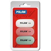 Комплект ластиков Milan 3х124 ml.BMM9203