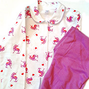 Пижама для девочки Фиолетовые Лошадки ТМ Niso Baby 603ADh